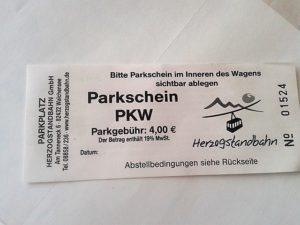 Parkschein-Walchensee